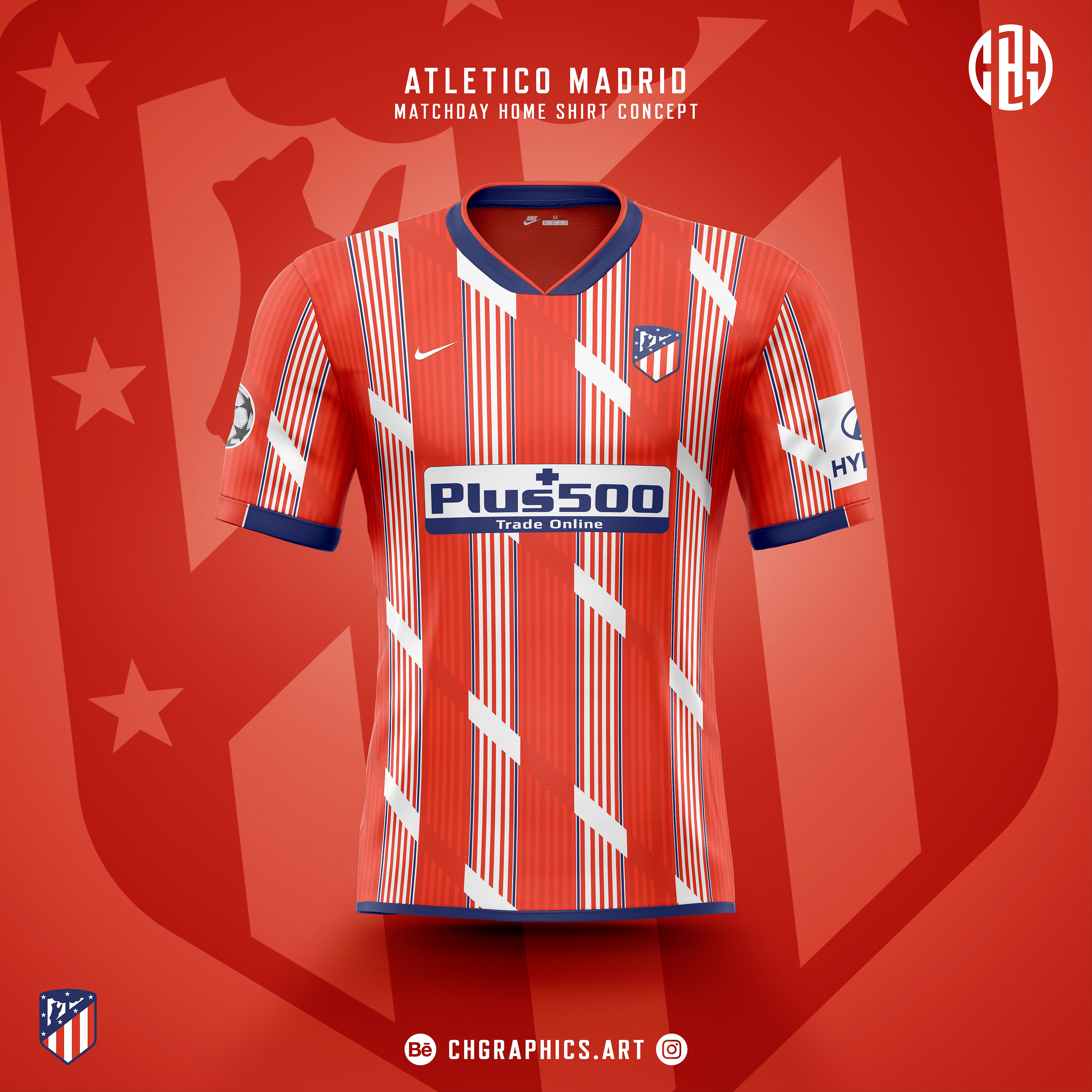 Chgraphics Atletico Madrid Matchday Shirt Concepts