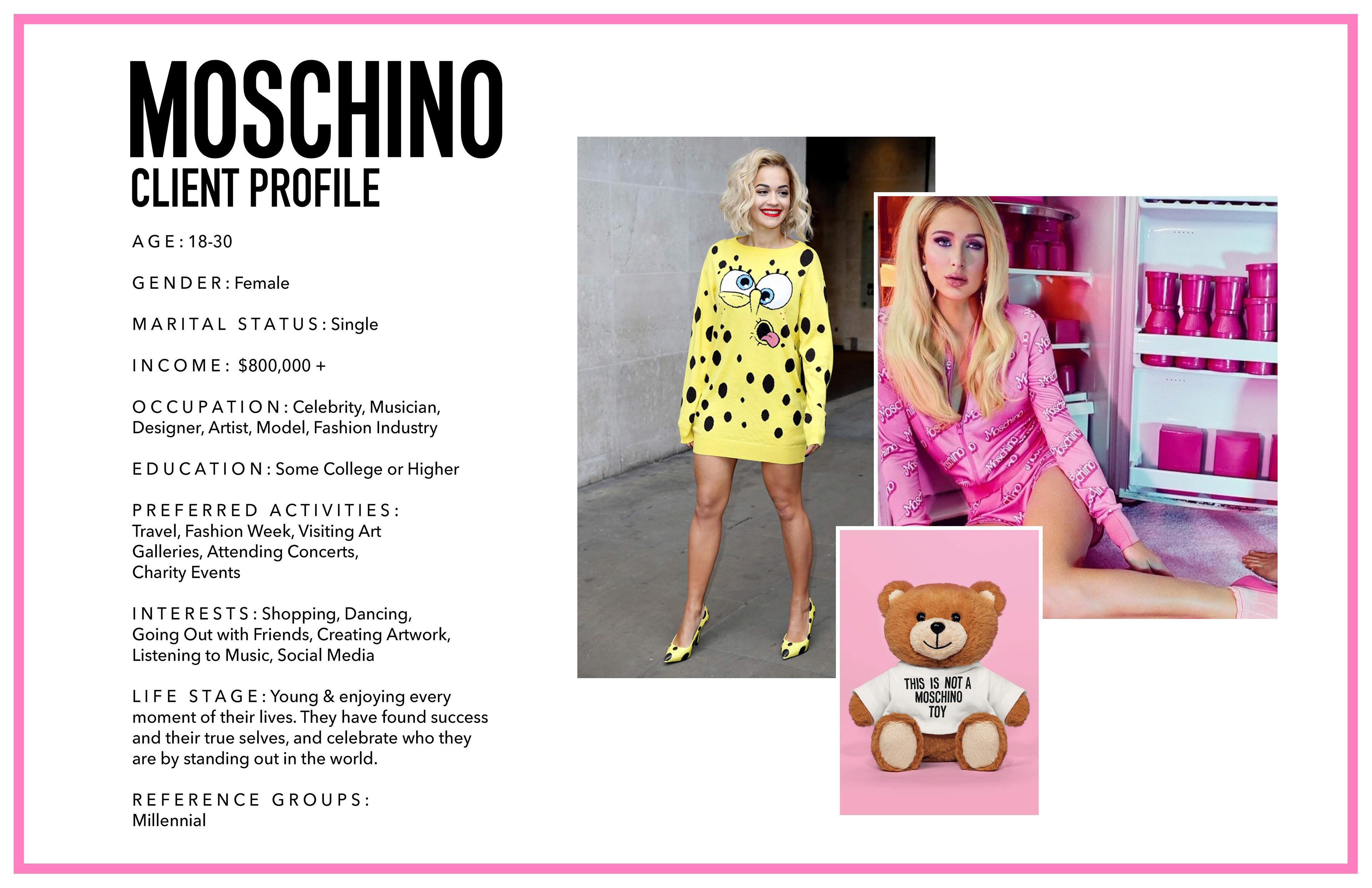 Natalie S Fashion Design Portfolio Moschino Fall Winter 2017 Rtw Collection