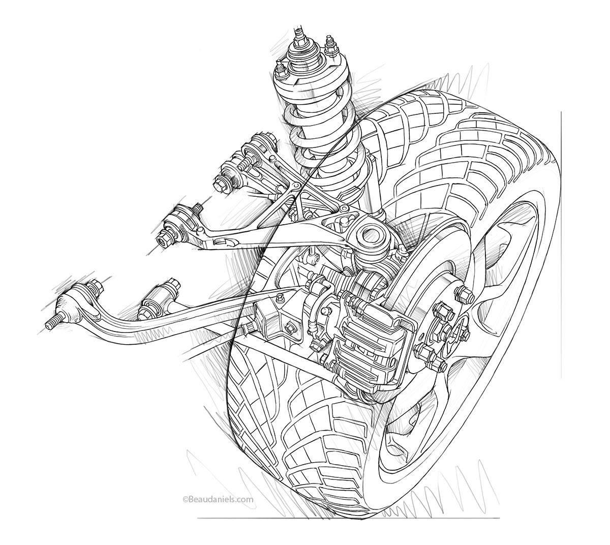 Honda S2000 suspension.