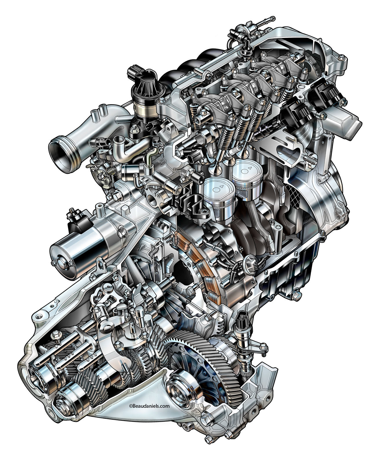 Bd B D D B Ff Rw on Honda Vtec Engine Illustration