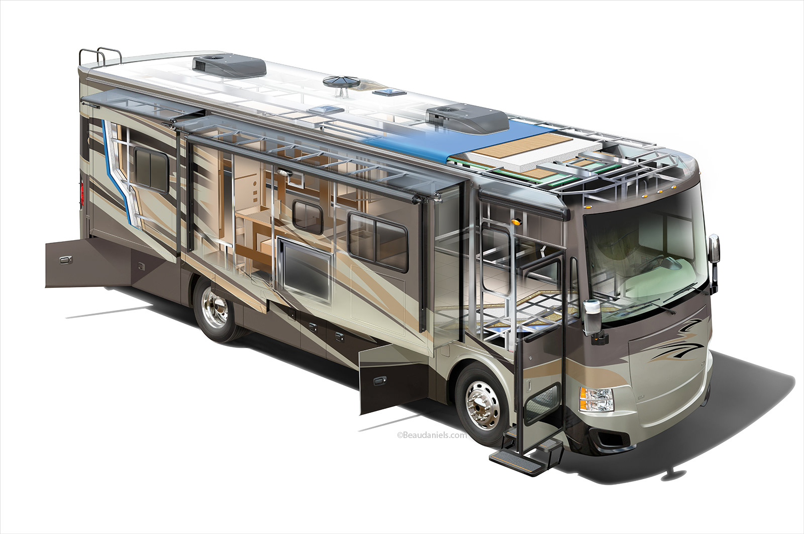 Technical Illustration Beau And Alan Daniels Rv