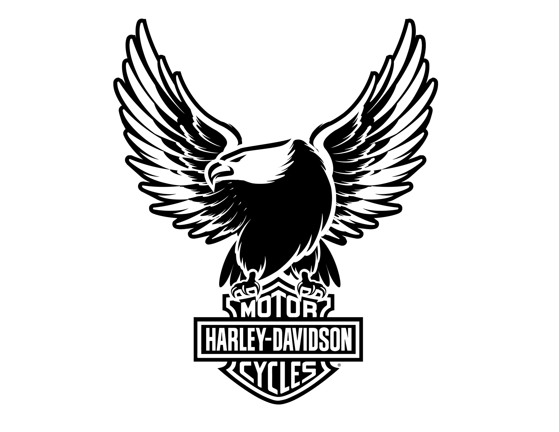 Harley Davidson With Eagle